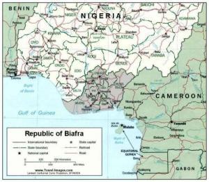 Mappa del Biafra