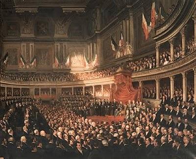 18 febbraio 1861 prima seduta del parlamento del regno d for Parlamento italiano storia
