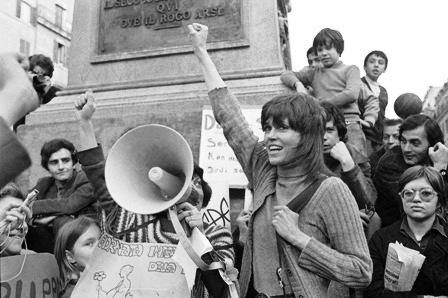 Femministe Italiane a Campo de' Fiori